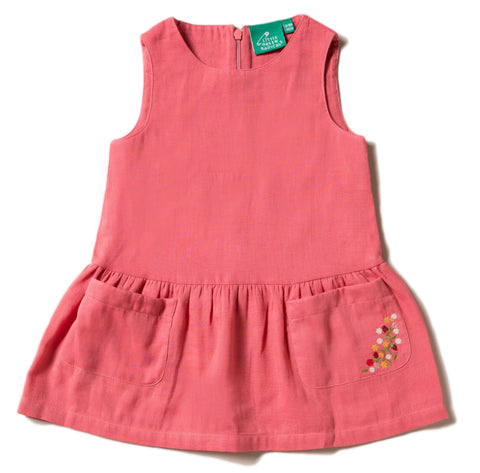 LGR Sunset Pink Embroidered Pocket Dress