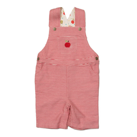 Image of LGR An Apple A Day Classic Shortie Dungarees