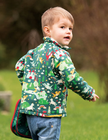 Image of Frugi Snuggle Fleece - Scots Pine Fairytale