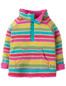 Frugi Little Snuggle Fleece - Rainbow Marl Breton