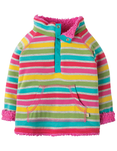 Image of Frugi Little Snuggle Fleece - Rainbow Marl Breton - Organic Cotton