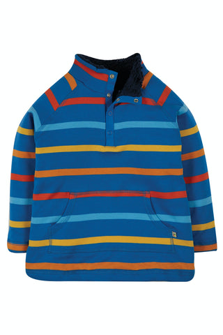 Image of Frugi Snuggle Fleece - Colbalt Multistripe