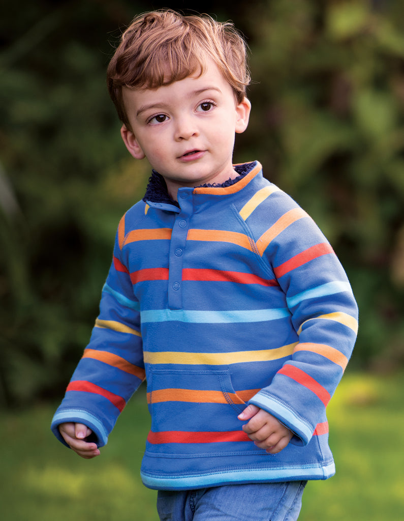 Frugi Snuggle Fleece - Colbalt Multistripe