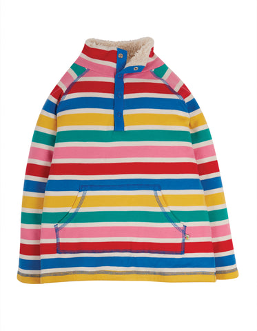 Frugi Snuggle Fleece - Rainbow Multi Stripe