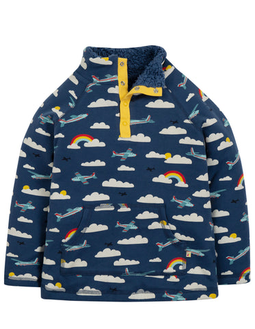 Frugi Snuggle Fleece - Marine Blue Fly Away