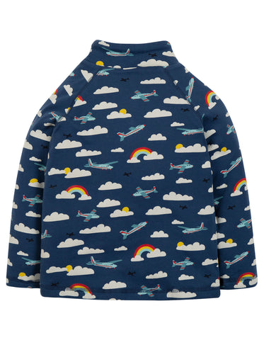 Image of Frugi Snuggle Fleece - Marine Blue Fly Away - Tilly & Jasper