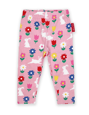 Toby Tiger Organic Bunny Print 3/4 Length Leggings