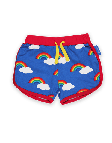 Image of Toby Tiger Running Shorts - Multi Rainbow