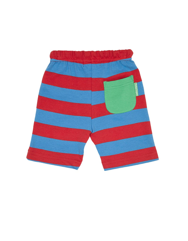 Toby Tiger Red & Blue Stripe Shorts