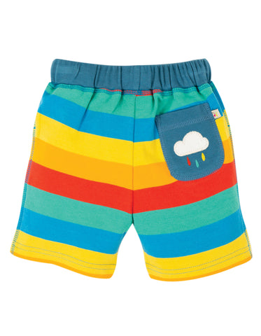 Frugi Little Stripy Shorts - Multi Rainbow Stripe