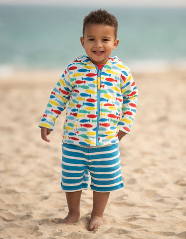 Frugi Little Stripy Shorts - Motosu Blue Stripe
