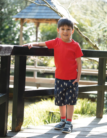 Frugi Explorer Shorts - Indigo Lobster
