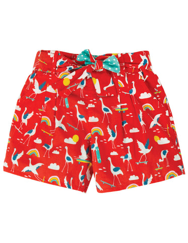 Image of Frugi Seren Reversible Shorts - Skateboarding Cranes