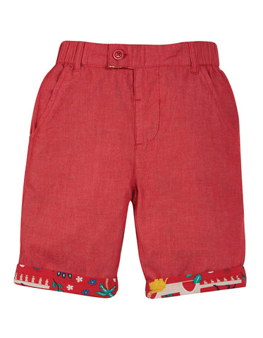 Frugi Ralph Reversible Shorts -  True Red India
