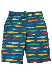 Frugi Board Shorts - Rainbow Crocs
