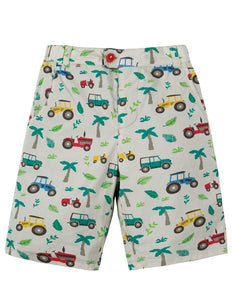 Frugi Reuben Reversible Shorts - Tropical Tresco - Tilly & Jasper