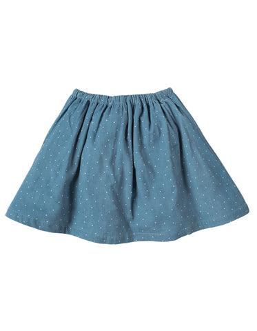 Image of Frugi Tabby Twirly Skirt - Stone Blue Snowy Spot/Duck - Tilly & Jasper