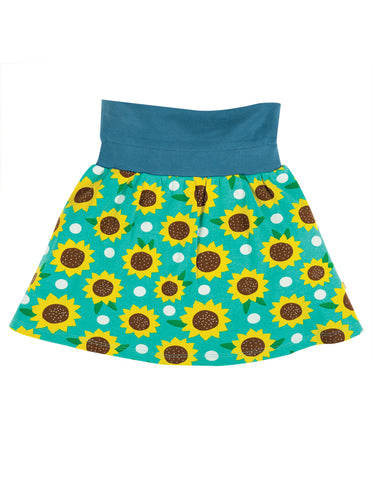 Image of Frugi Luna Skort - Pacific Aqua Sunflowers
