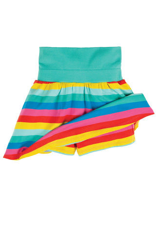 Frugi Spring Skort - Flamingo Multi Stripe Skirt
