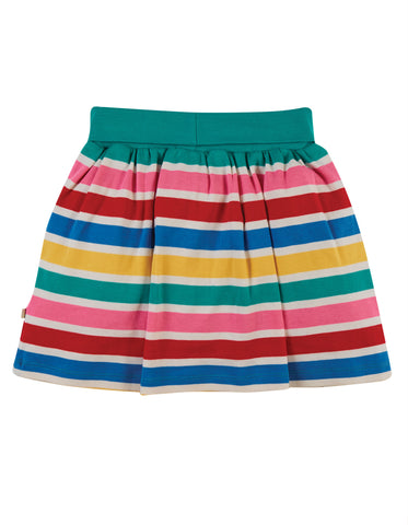 Image of Frugi Luna Skort - Rainbow Multi Stripe