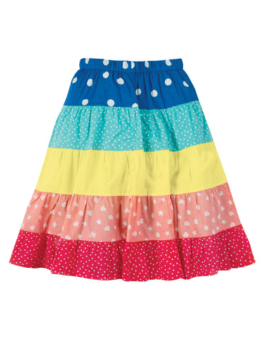 Image of Frugi Dorothy Twirly Skirt - Rainbow Hotchpotch - Tilly & Jasper