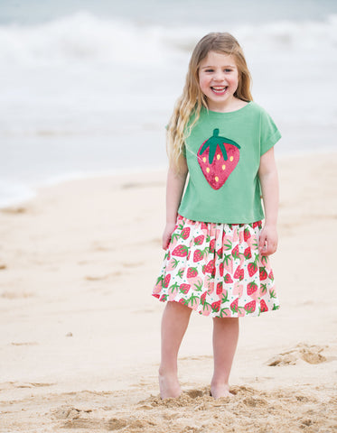 Frugi Fiona Full Skirt - Scilly Strawberries