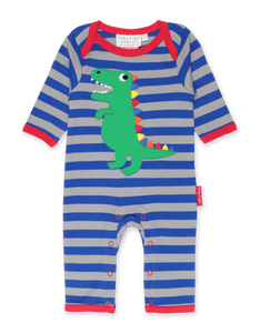Toby Tiger Trex Applique Sleepsuit