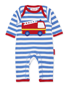 Toby Tiger Fire Engine Applique Sleepsuit