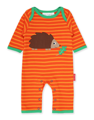 Toby Tiger Hedgehog Applique Sleepsuit