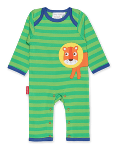 Toby Tiger Walking Lion Applique Sleepsuit