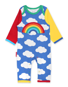 Toby Tiger Rainbow Applique Sleepsuit