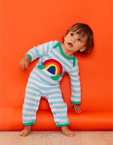 Image of Toby Tiger  Turtle Applique Sleepsuit