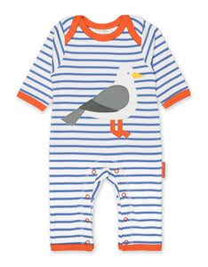 Toby Tiger Seagull Applique Sleepsuit