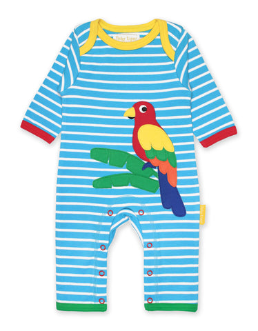 Image of Toby Tiger Parrot Applique Sleepsuit