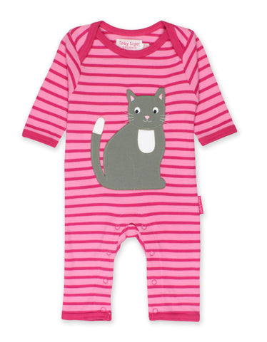 Toby Tiger Kitten Applique Sleepsuit