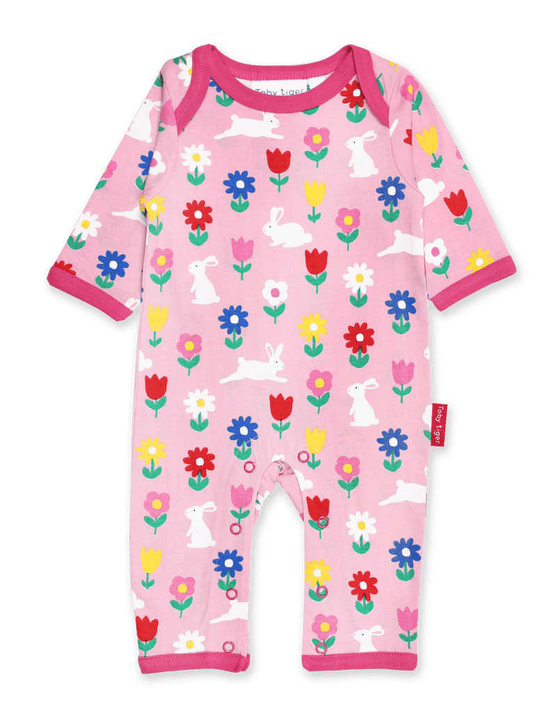 Toby Tiger Bunny Print Sleepsuit