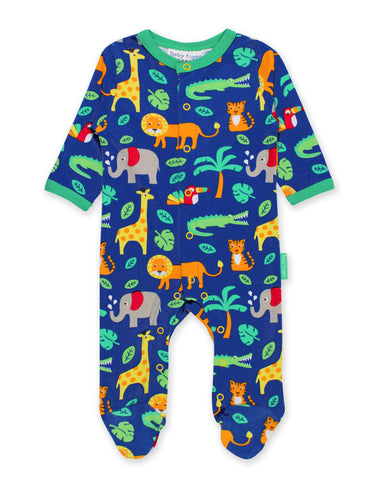 Image of Toby Tiger Jungle Print Babygrow