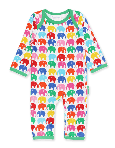 Image of Toby Tiger Multi Elly Print Sleepsuit