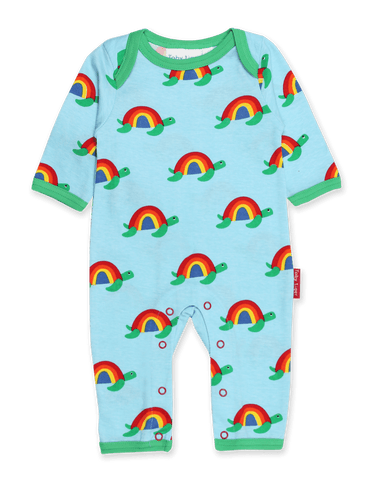 Toby Tiger Multi Turtle Print Sleepsuit