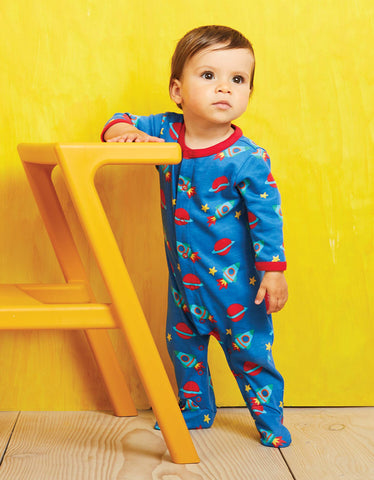 Image of Toby Tiger Space Print Babygrow