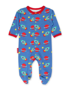 Toby Tiger Space Print Babygrow