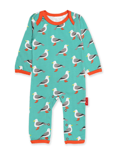 Toby Tiger  Teal Seagull Sleepsuit