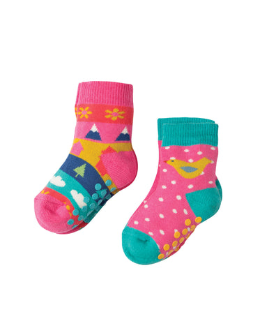 Frugi Grippy Socks 2 Pack - Bird