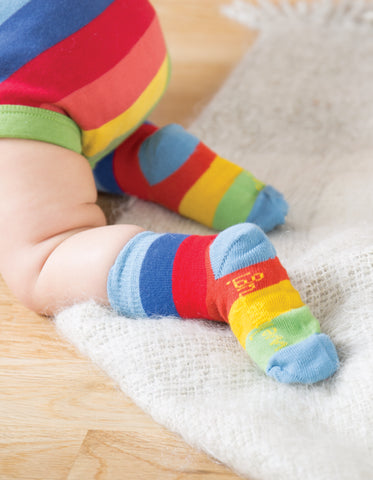 Frugi Little Socks 3 Pack - Chicken