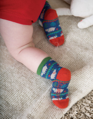 Frugi Little Socks 3 Pack - Moose