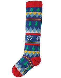 Frugi Skye High Socks - Fir Tree Fairisle