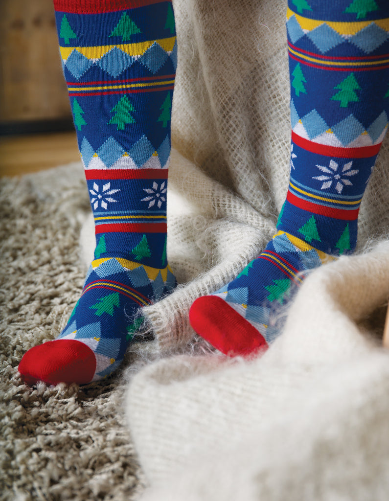 Frugi Skye High Socks - Fir Tree Fairisle - Organic Cotton