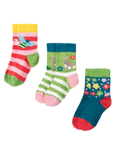 Frugi Little Socks 3 Pack - Deer Multipack