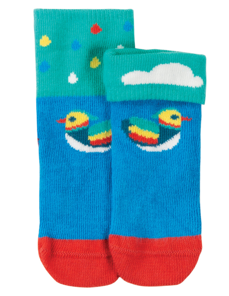 Frugi Perfect Little Pair Socks - Motosu Blue/Duck