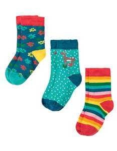Frugi Rock My Socks 3 Pack - Deer Multipack